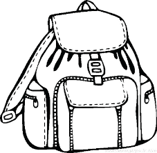 School Supplies Coloring Pages Page First Day Of Picture Lunch