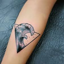 Unique Waves Geometric Tattoo