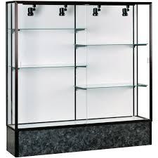 decoration stand up glass display glass figurine cabinet