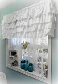 Anna Lace Curtains With Attached Valance by Lovely White Ruffle Valance From For The Love Of White Window
