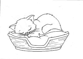 Kitten Coloring Page Cute Kitten Coloring Page Free Printable