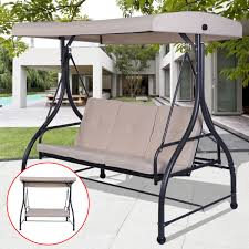 Patio Swings With Canopy by 3 Seats Cushioned Porch Swing Chair Porch Swings Outdoor