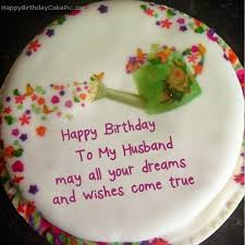 Birthday Cakes With Wishes For Husband wallpaper