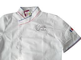 broderie veste de cuisine veste de cuisine mc brodée mestenuesperso