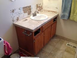 Small Double Sink Vanity by Remodelaholic Updated Bathroom Single Sink Vanity To Double Sink