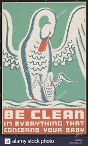 Work Projects Administration WPA Poster For Infant Health Related Issues Produced Between 1936 And