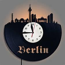 de yun clock berlin wanduhr aus vinyl