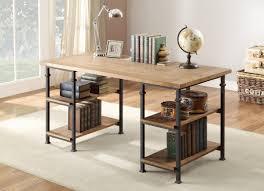 Interior Design Rustic Desk Accessories Oak Industrial Office L Shaped Computer Kidney Espresso