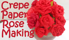 DIY How To Make Crepe Paper Rose Flower