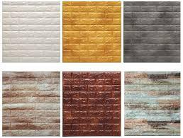 3D Brick PE Foam Non Toxic Stone Wallpaper For Home Decoration