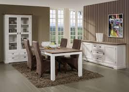 salle a manger complet salle à manger complète contemporaine coloris blanc kiaro