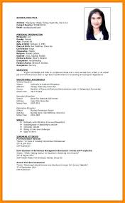 Personal Information Resume Sample Example