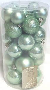 30 Luxury Shatterproof Christmas Baubles Tree Decorations Eucalyptus
