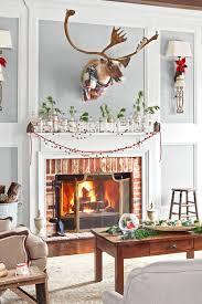 Holiday Room Decorating Ideas 35 Christmas Mantel Decorations