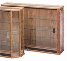 Wooden Rectangular Glass Wall Display Cabinet Part 25
