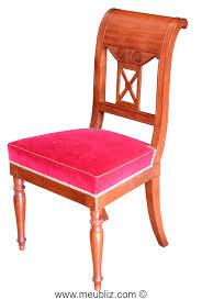 chaise ée 70 chaise de style directoire courbes sobres