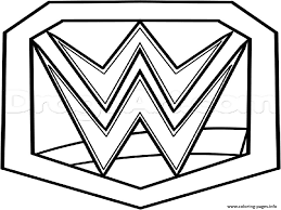Wwe Championship Belt Official Coloring Pages Print Download 145 Prints