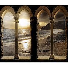 murando fototapete strand meer 350x256 cm vlies tapeten wandtapete moderne wanddeko design wand dekoration wohnzimmer schlafzimmer büro flur natur