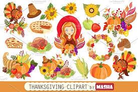 THANKSGIVING clipart Illustrations