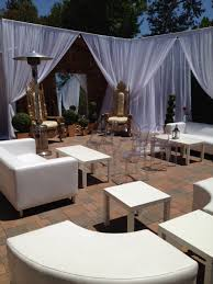 lounge furniture throne chairs mirror tables wedding backdrops
