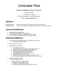 Dental Resume Examples General Dentist Combined With Templates Free Samples To