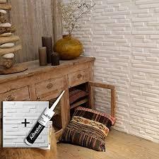 wandpaneel ventura 3d kleber platten wallart 12 dekorative paneele 3 m wandverkleidung 3d sticker i wandsticker für wanddeko wohnzimmer
