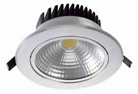2650lm cob dimmable led recessed ceiling light bulbs 30w aluminium