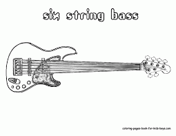 Guitar Coloring Page Grand Guitars Free Electric To Print