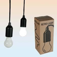led battery operated light nostalgic bulb 100cm co uk