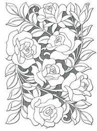 Rose Bouquette Coloring Page For Adults Kleuren Voor Volwassenen Farbung Fur Erwachsene Coloriage Pour Adultes Colorare Per Adulti Para Colorear
