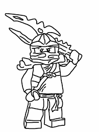 Ninjago Coloring Pages Jay With Lego Coloriage