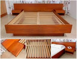 Diy Platform Bed Queen Size by Elegant Platform Bed With Floating Nightstands Best Modern