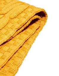 fred perry cable scarf in yellow for men lyst