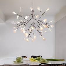 großhandel moderne led le baum blatt pendelleuchte led le hängelen wohnzimmer bar iron restaurant startseite beleuchtung pa0217