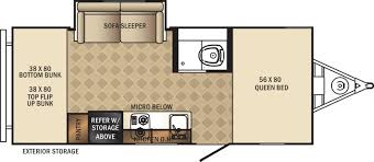 Travel Trailer Floor Plans With Bunk Beds by Palomini Travel Trailers Floorplans By Forest River Rv Colonia