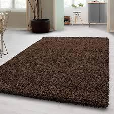 hochflor shaggy teppich für wohnzimmer langflor pflegeleicht schadsstof geprüft 3 cm florhöhe oeko tex standarts teppich maße 160x230 cm farbe braun