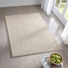 teppich wölkchen kurzflor teppich i flauschige flachflor teppiche fürs wohnzimmer esszimmer schlafzimmer oder kinderzimmer i einfarbig i creme 120