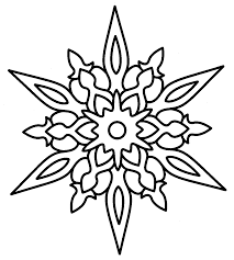 Christmas Snowflake Coloring Pages 09