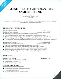 Sample Resume For Project Manager Electrical Together With Engineering To Prepare