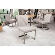 stuhl freischwinger big aston grau edelstahl ohne armlehne wohnzimmer