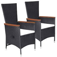 Details About 2x Outdoor Armchairs Poly Rattan 22.8