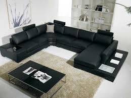 Black Leather Sofa Decorating Ideas by Decorating Black Leather Sectional Sleeper Sofa For Home