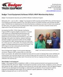 BTE Achieves NTEA MVP Membership - Badger Truck Equipment Aec National Road Transport Hall Of Fame Check Your Six 3 Quick Tips To Avoiding Backover Incidents With J Truck Bodies Trailers Somerset Pennsylvania Pa 15501 Membership Illinois Trucking Association Washington State Food Trucks Abco Services Inc Nspa Sled Pullers Associaton Chassis Manufacturers Showcase Details Of New Model Year Updates At Nteanational Equipment Public Works Magazine Tailgates By Thieman Ste Michigans Premier Commercial Sponsors Mn