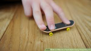 Cheap Wooden Tech Decks by How To Ollie On A Tech Deck Using Three Fingers 6 Steps