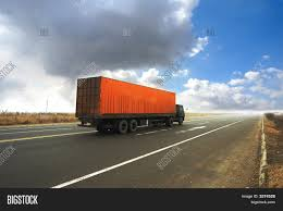 100 Big Blue Trucking Container Truck 3374528 Image Stock Photo