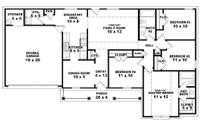 Trend Four Bedroom House Plans Two Story Remodel Ideas Bathroom Bath Single Arts One Ranch Inside