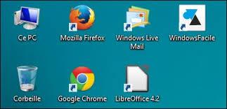 ajouter des raccourcis de programmes sur le bureau de windows 8 et