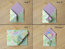 Paper Crafts Origami Envelope Tutorial Step 1