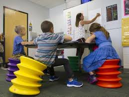 Ball Seats For Classrooms by Gulf Elementary Adds Comfy Learning Spaces To Classrooms