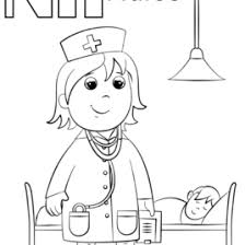 N Is For Nurse Coloring Page Free Printable Pages